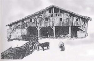 13.El antiguo caserio Aginaga (Eibar), ya desaparecido, habia sido construido con madera de roble entre los siglos XVI y XVII. De las casas de labranza medievales no se ha conservado ninguna huella.