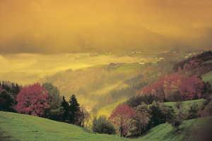 17.El paisaje de Abaltzisketa aun recuerda que los primitivos caserios de los siglos XIV y XV preferian agruparse en pequeñas barriadas situadas a media ladera.