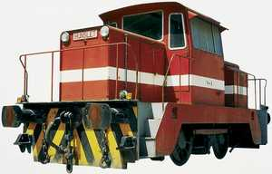 110. A shunter from the Port of Pasajes.