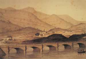 23. The International Bidassoa bridge in 1864.