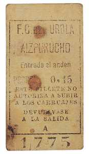 61. A ticket for the Urola Railway.