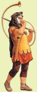 35. Trumpeter of the Roman army. First Century AD.© Romisch-Germanisches Zentralmuseum. Mainz: