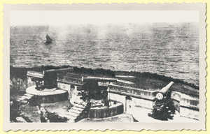 192. Bardocas Battery in Urgull with its three 15-cm banded iron cannons mounted on high carriages.