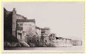26. St. Elizabeth's Castle (early twentieth century). The four gun emplacements on the platform and the three on the casemates can be seen.