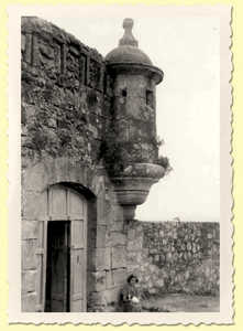 36. Rear view of the entrance to St. Elmo's Castle.