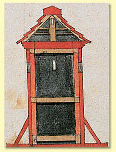 64. Wooden sentry box designed in 1735 for Hondarribia.© Hergara S.A.