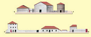 81. North-south and east-west cross-section of the Windmill Fort. The windmill after which the fort was named is shown on the right.© Juan Antonio Sáez