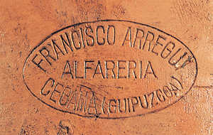 48. The stamp used by Francisco Arregi to mark his vessels. Zegama.© Xabi Otero