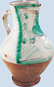 75. Jug with decoration of a bird and footring.© Jose L�pez