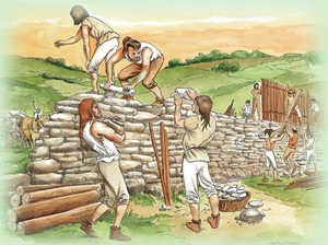 179. Building the wall at Basagain.© Angel Benito Gastañaga