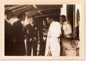 21. The sacrament of marriage was still being held in the doorway of the church or